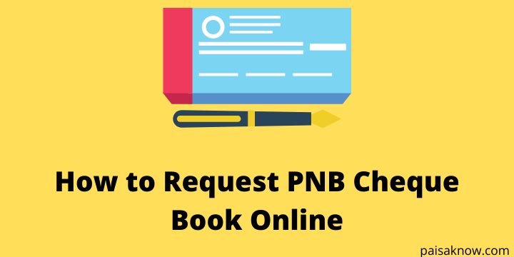 How to Request PNB Cheque Book Online