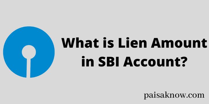 What is Lien Amount in SBI Account