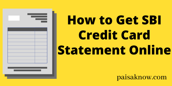 How to Get SBI Credit Card Statement Online