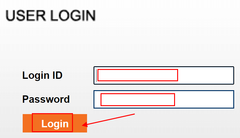 enter your Login ID and newly crated password and click on the Login button