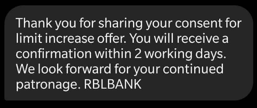 How to Increase RBL Bank Credit Card Limit through Missed Call
